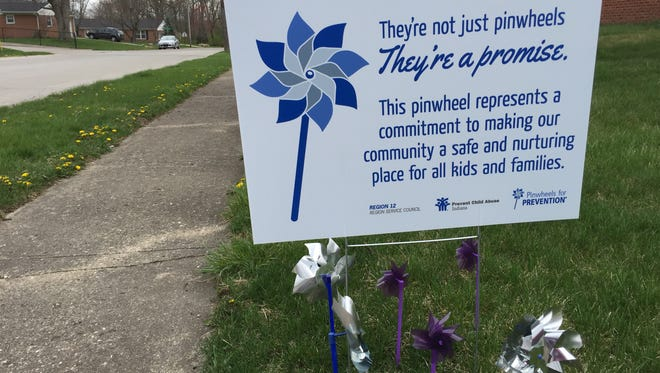 Pinwheels are being displayed around Wayne County in April to raise awareness of child abuse and neglect.