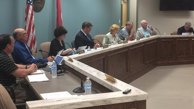 Members of the Robertson County School board during a recent meeting