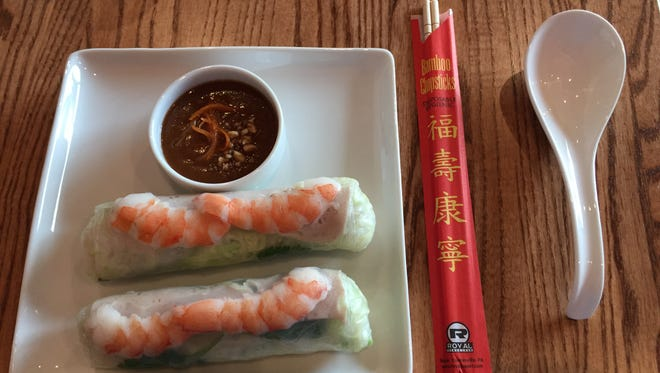 The spring roll at Minh's Bistro, a new Vietnamese restaurant that recently opened in Rehoboth Beach.