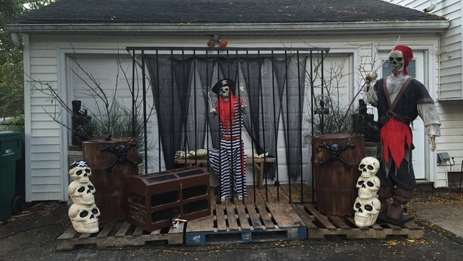 Halloween decorations at 321 Varinna Avenue in Brighton thrill adults and children alike.
