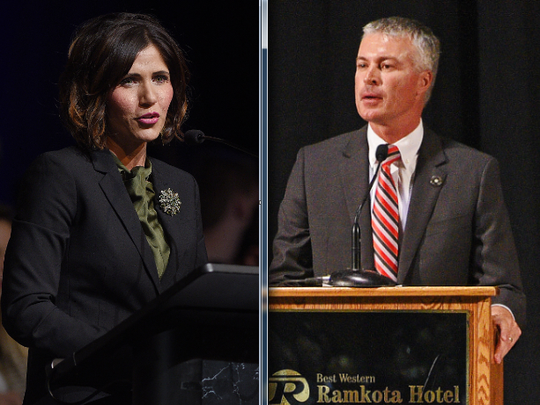 Rep. Kristi Noem, left, and Attorney General Marty