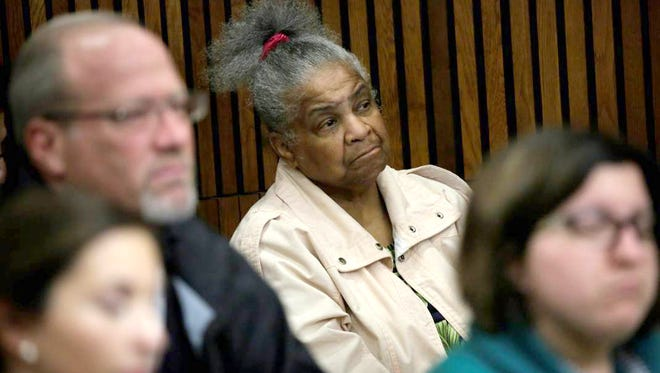 Laverne Banks, 68, of Detroit has been watching court proceedings in Wayne County Circuit Court for more than two decades. She attended a hearing in Bob Bashara's quest for a new trial on Oct. 15, 2015 in the Frank Murphy Hall of Justice in Detroit.