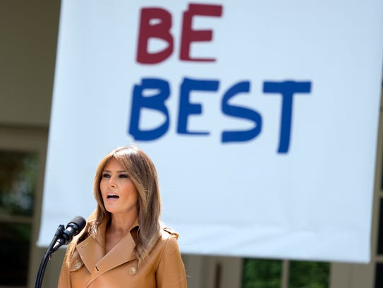 First lady Melania Trump speaks on her initiatives