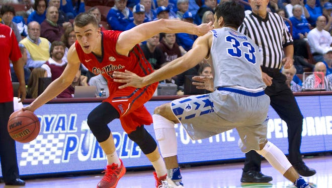 Ole Miss forward Tomasz Gielo has scored 28 points in his past two games.