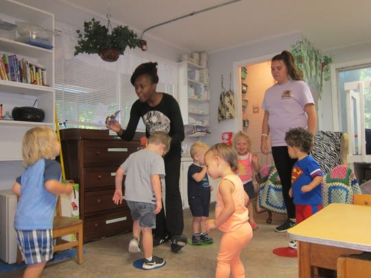 Thalezondra Hill-Dowdy and her students at Jamison Street Preschool in west Pensacola engage in center-based, interactive learning throughout the day.