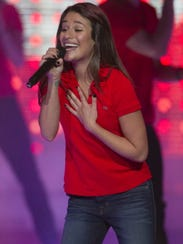 Lea Michele performs at Bankers Life Fieldhouse in