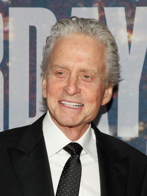 Michael Douglas at the SNL 40th Anniversary Special on Sunday.