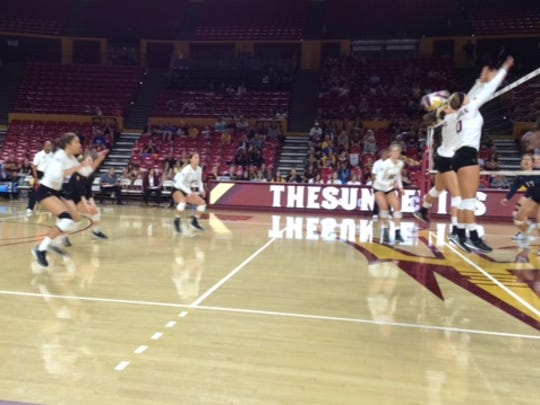 No. 10 ASU volleyball improved to 8-0 for the first time since 1992 Sunday with a 3-1 win over Gonzaga.