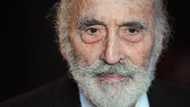 British actor Christopher Lee arrives on the red carpet to attend the royal world premiere of the new James Bond film 'Skyfall' at the Royal Albert Hall in London on October 23, 2012.