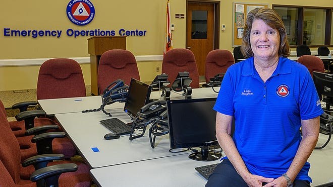 Linda Stoughton, director of the St. Johns County Emergency Management Department since 2014, is retiring after more than 30 years with St. Johns County.