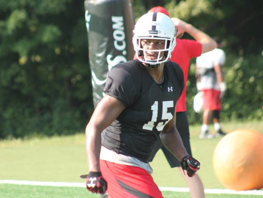 New UC WR JaQuay Savage was on the practice field at