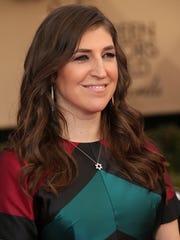 Mayim Bialik on Jan 29, 2017, in Los Angeles.