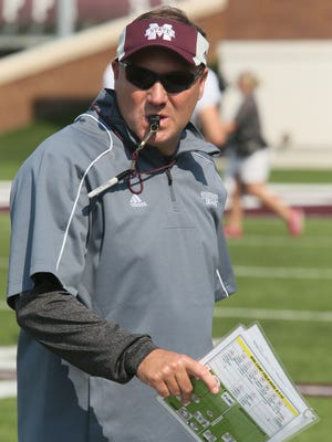 Coach Dan Mullen and Mississippi State get Alabama on Saturday.