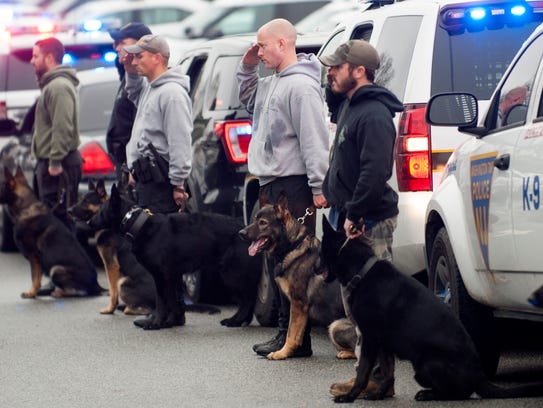 K9 officers from across South Jersey salute Camden