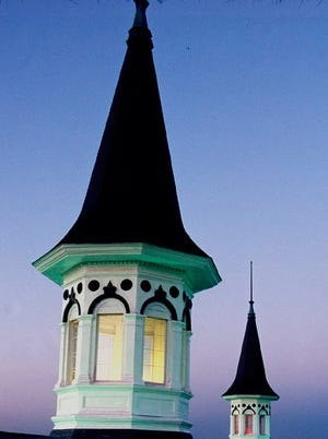 The historic Twin Spires at Churchill Downs in Louisville.