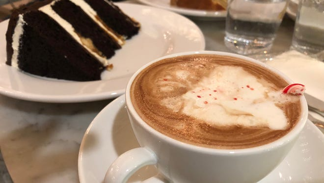 The peppermint hot chocolate from The Cake Bake Shop isn't a beverage. It's an experience.
