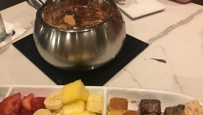 Chocolate s'mores fondue at The Melting Pot in Red Bank.