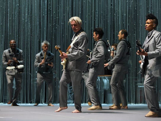 David Byrne performs during his American Utopia Tour