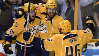 Nashville Predators center Colton Sissons scored three times to propel his team into the Stanley Cup Final.
