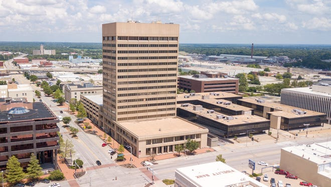 """Topeka Tower, 534 S. Kansas Ave., and Townsite Plaza, 200 S.E. 6th Ave., were recently purchased by local businessman Ken Schmanke, president and CEO of K1 Reality. Schmanke said he has """"a long list"""" of improvement plans for the buildings."""