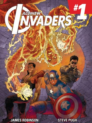 """""""All-New Invaders"""" reteams the World War II group of Captain America, Bucky Barnes (now known as Winter Soldier), Namor and the original Human Torch."""