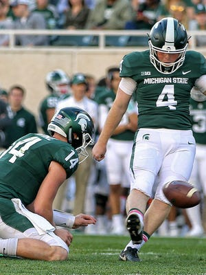 Michigan State kicker Matt Coghlin's second-quarter field goal was the Spartans' only points for three quarters against Indiana.