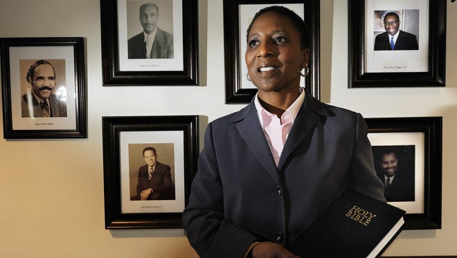 The Rev. Dr. Judy Cummings is the first female pastor in the 151-year history of the New Covenant Christian Church.