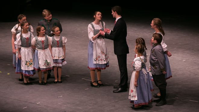 """Students from Greece Odyssey perform a medley from """"The Sound of Music"""" on Thursday, May 5, 2016."""