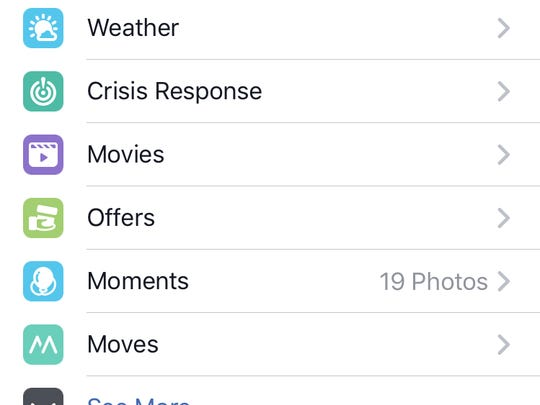 Facebook's Crisis Response can be found toward the bottom of the features menu.