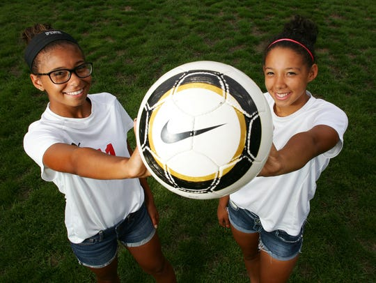 Amia Woods, left, and Tyra Woods are standout soccer