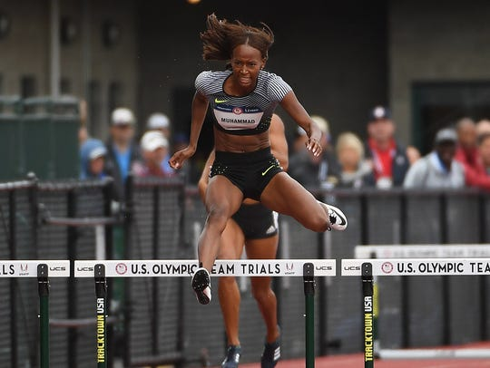 Dalilah Muhammad, the world leader in the 400 hurdles,