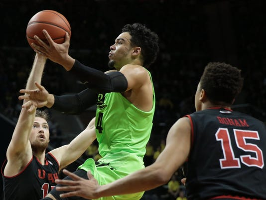 NCAA Basketball: Utah at Oregon