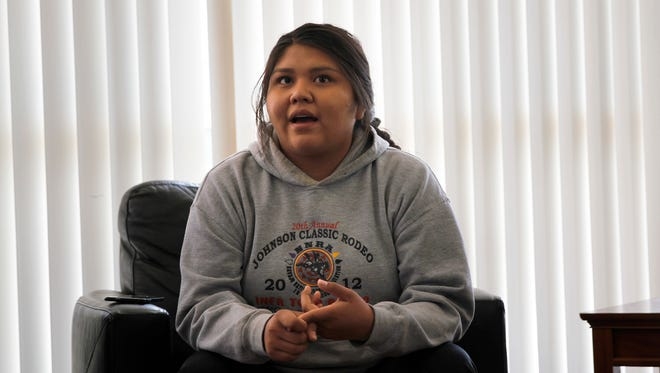 Navajo Preparatory School graduating senior Aliyah Johnson met the service portion of her graduation requirements by volunteering with the San Juan County Fire Department.