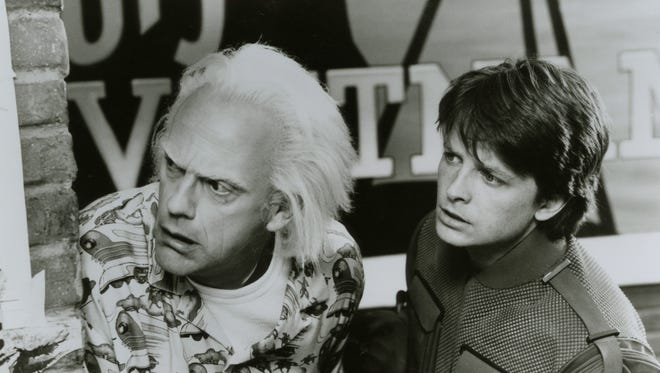 Christopher Lloyd and Michael J. Fox in 'Back to the Future, Part II.'
