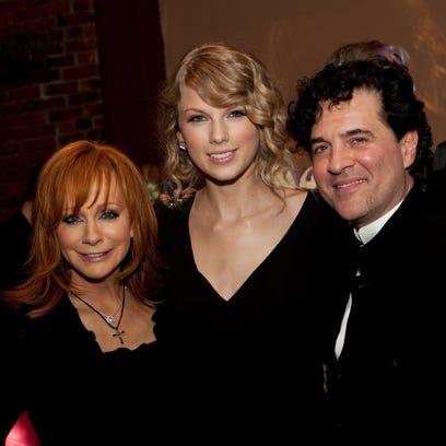 Reba McEntire, Taylor Swift and Scott Borchetta