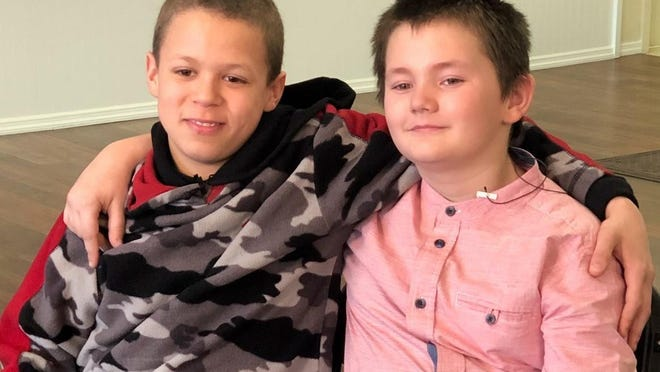 Charles, 14, and Timothy, 11