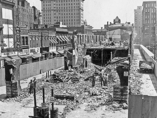 The Market House is razed on Market Square in this May 4, 1960 archive photo.