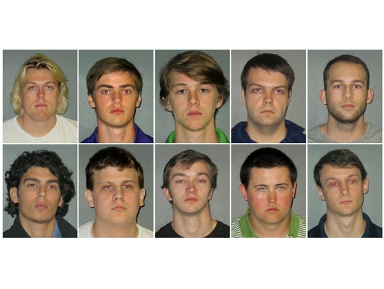 10 charged in LSU stud...