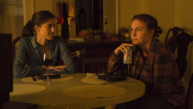 Both Marnie (Allison Williams, left) and Hannah (Lena Dunham) get a crack at 'Girls' swan song.
