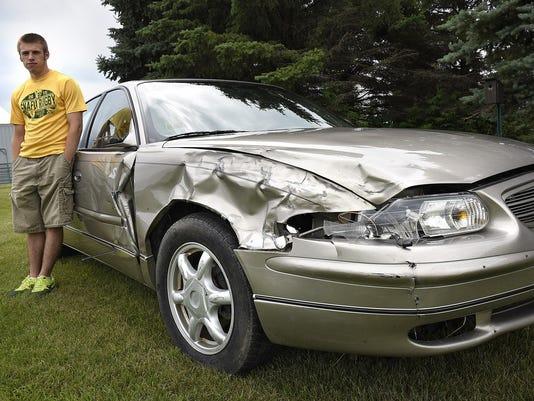 Crashed car 1