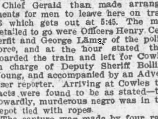 This is a clipping from Feb. 16, 1896, in which the