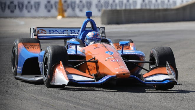 IndyCar champion Scott Dixon won for the first time this season June 2 on the streets of Detroit.