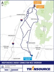 Transource has narrowed the possible routes for a power