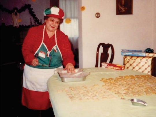 Angie Iacobucci, making the traditional Christmas ravioli