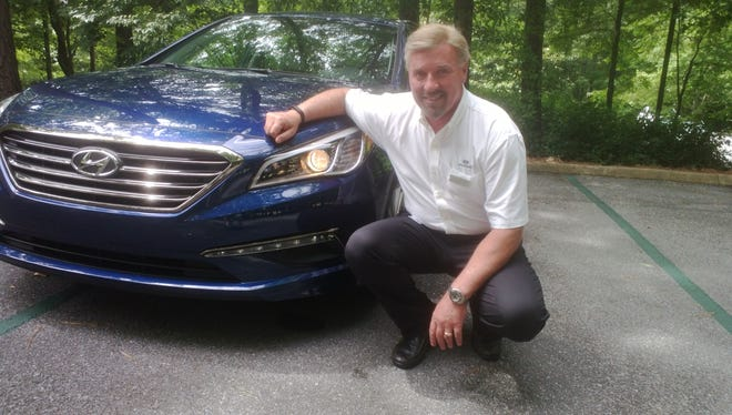 Hyundai U.S. CEO Dave Zuchowski in Alabama last week at an introductory event for the redone 2015 Hyundai Sonata.