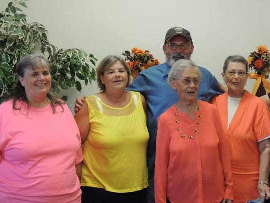 Birthday Jewell Over 100 guests helped celebrate Jewell Key's birthday held in the fellowship hall of Evansville General Baptist Church. Family was there in full force with 14 grandchildren, 35 great-grandchildren, 8 great-great-grandchildren and two brothers and one sister sharing the fun. She is a twin and one of eight children as well as mom to five children. Three of her kids are the Key Triplets, born in 1955 and featured in the Evansville Courier & Press at that time. In the photo from left are Teresa Ryor, Vonda Roy, Gary Key, the birthday girl Jewell, Linda Heard and Rhonda Sartore.