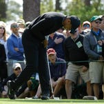 Masters 2018: Tiger Woods laboring in first round; Marc Leishman leads