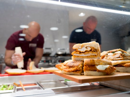 Sandwiches are prepared at Rossi's Deli's second location at Marist College in the Town of Poughkeepsie.