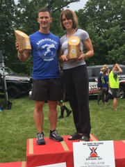 Chambersburg's Jason Huber and Amy Shelly were the top male and female finishers at the OCR (obstacle course racing) combine organized by No Time To Lose Fitness, LLC on May 27.