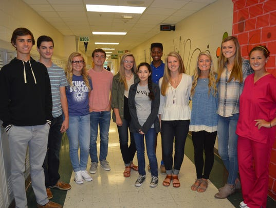 Henderson County High School August Students of the Month